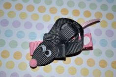 OOAK Cute Little Mouse Ribbon Sculpture Hair by MandaLynnCreations, $3.50