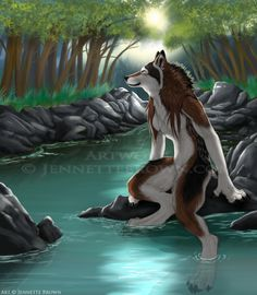 A moment to herself - Jennette Brown Digital Fantasy - Wolves and Werewolves
