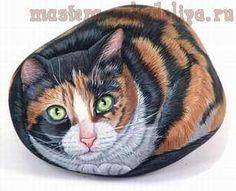 Мастер-класс по росписи камней: Рисуем кошку