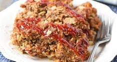 Definitely not your mama's meatloaf. Packed full of amazing flavor, your family will love this easy meatloaf recipe so much, it'll practically fly off the dinner table. Easy Meatloaf Recipe With Oatmeal, Meatloaf With Oatmeal, Classic Meatloaf Recipe, Good Meatloaf Recipe, Meat Loaf Recipe Easy, Best Meatloaf, Oatmeal Recipes, Meatloaf Recipes, Burger Recipes