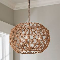 Perfect for smaller rooms and spaces, this chandelier& frame is wrapped in rope for a casual or coastal feel. Ideal for a nursery or bedroom, small foyer or dining area or use several in a row above an island or hallway. Beachy Chandelier, Round Chandelier, Kitchen Chandelier, Farmhouse Chandelier, Chandelier Shades, Chandelier Ideas, Nursery Chandelier, Dining Room Chandeliers, Iron Chandeliers