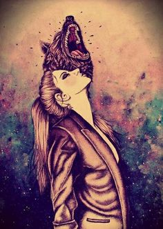 You don't need to know my name but i go by Red.Daughter of the wolf and little red riding hood.im 16 and single I can change from wolf to girl and have wolf ears and a tail with gold eyes. She Wolf, Urban Art, Fantasy Art, Avatar, Cool Art, Art Drawings, Art Sketches, Beast, Art Photography