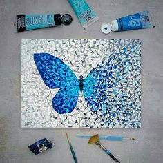 🥳By 40 Amazing Art Ideas ? 🥳By A photo posted by Art ( on Easy Canvas Art, Small Canvas Art, Mini Canvas Art, Cool Art Drawings, Art Drawings Sketches, Sketch Art, Butterfly Painting, Butterfly Art, Acrylic Art