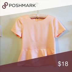 Host Pick J Crew Silky Peplum Blouse This top is gorgeous and in perfect condition! Pale pink. I discount bundles 25% :) J. Crew Tops Blouses