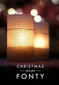 text from christmas carols or storys wrapped around simple jars with votive candles in, cheap and effective. Would be beautiful table decorations for a wedding with romantic poetry etc
