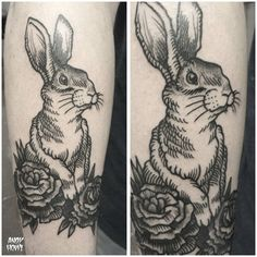 rabbit tattoo - for Maura
