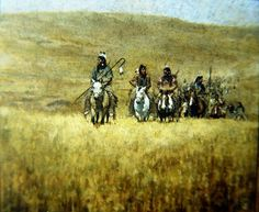 Hank Ford painting Indian Artwork, Native American Paintings, Native American Beauty, American Frontier, Cowboys And Indians, Le Far West, Western Art, First Nations, American Indians