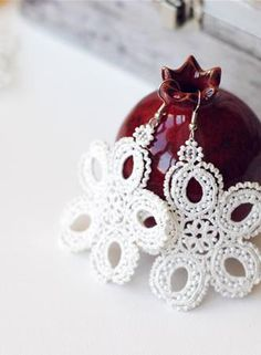 """Lace earrings """"Waltz of the Flowers"""""""