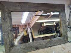 Barnwood mirrors large frame