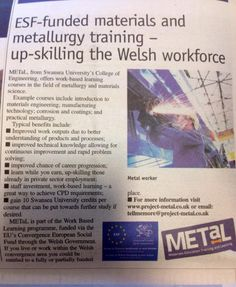 METaL News, Wales, Training, Engineering,