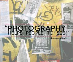 """Photography helps people to see."" #BereniceAbbott  At #100cameras, we empower #kids to use #photography to tell their stories and share what they see with the world!  http://100cameras.org/"