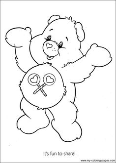 242 Best Crafty 80 S Care Bears Coloring Images Care Bears