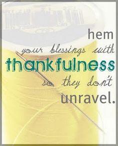 Hem your blessings w