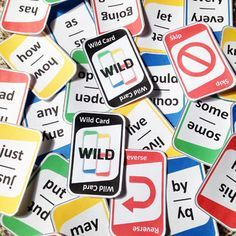 """Reinforce first grade sight words with this """"UNO"""" style card game!"""
