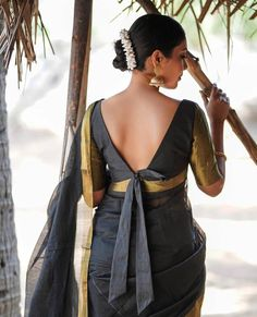Latest Trending Silk Saree Blouse Designs - 2019 Update - - To make it easier for you, we have the top trending beautiful silk saree blouse designs so that you can choose the best for your saree look. Choli Blouse Design, New Saree Blouse Designs, Fancy Blouse Designs, Blouse Patterns, Styles Blouse, Indian Blouse Designs, Kurti Patterns, Choli Designs, Saree Styles