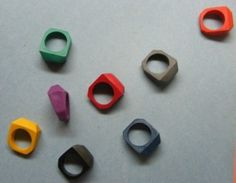 Crayon rings.  Are you really ever too old for crayons?!  I think not.