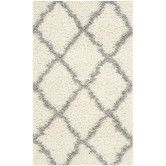 Found it at Wayfair - Dallas Shag Ivory/Gray Area Rug