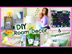 DIY Room Decor 2015 ♡ Organization + Decorations for Your Room!! - YouTube