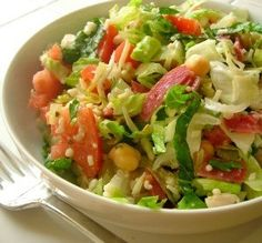 """Copycat California Pizza Kitchen Chopped Salad  """"I added avocado and used fresh herbs in the dressing. I could eat this salad every day."""" -Katanashrp"""