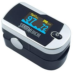 Santamedical Generation 2 OLED Fingertip Pulse Oximeter Oximetry Blood Oxygen Saturation Monitor with batteries and lanyard - Silver, Buy now at OFFER Price Hemoglobin Levels, Good Blood Pressure, Gift Card Giveaway, Amazon Gifts, Monitor, Display, Baby, Finger, Heart Rate