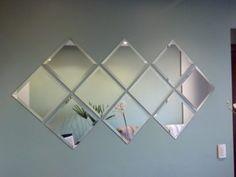 espelhos decorativos para sala com bisote quadrados agrupados