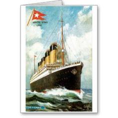 RMS TSS Titanic Passenger Ship Note Card