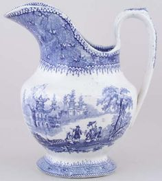 Ewer c1855 Mayer Blue And White China, Blue China, Love Blue, Delft, Blue Dishes, White Dishes, Antique China, Vintage China, Chinoiserie