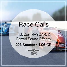 This collection of 203 race car sound effects features racing, qualifying, and practicing as well as individual race car passes. Nascar, Car Sound Effects, Ferrari, Sound Library, Car Sounds, Indy Cars, Race Cars, Challenges, Racing