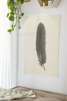 Feather Study No. 5 Art Print - Urban Outfitters