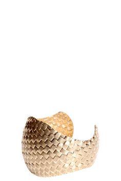 Tia Woven Metal Detail Cuff