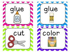 Picture Direction Icon Cards (chevron and polka dot)