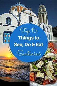 15 Things to See, Do and Eat on Santorini Top 15 Things to See, Do and Eat on Santorini by travel photographer and writer, Kat from Far from Home Far from Home may refer to: Greece Honeymoon, Honeymoon Places, Greece Vacation, Greece Travel, Vacation Spots, Greece Trip, Crete Greece, Mykonos Greece, Vacation Resorts