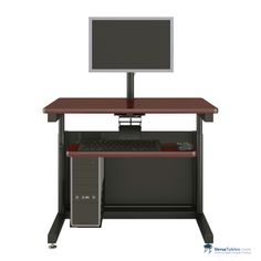 Deluxe Height Adjustable Computer Table CTL Series By Versa Tables