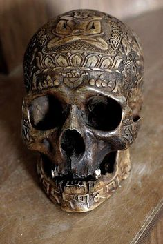 Magical Items-Tibetan carved Skull