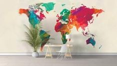 hottest snap shots newest snap shots world map bedroom canvas art love free tips funny Bedroom Canvas, Bedroom Art, Bedroom Kids, World Map Bedroom, Map Artwork, Water Color World Map, Watercolor Map, Love Is Free, Cool Walls