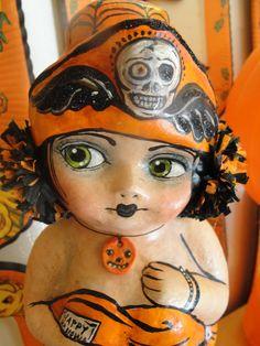 Halloween Vintage Vamp Doll by hophopjingleboo on Etsy, $145.00
