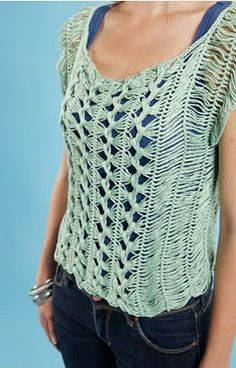 Ravelry: hairpin lace top pattern by Claire Montgomerie crochet,Crochet and Knitting,knitting,Knitting/Crochet, Hairpin Lace Crochet, Hairpin Lace Patterns, Loom Crochet, Crochet Tunic, Easy Crochet Patterns, Crochet Clothes, Knit Crochet, Lace Tunic, Tunisian Crochet