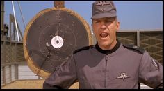 You don't have what it takes to be a citizen! Sci Fi Movies, Movie Tv, Starship Troopers 1997, Science Fiction, Clancy Brown, What It Takes, Citizen, Captain Hat, Tv Shows