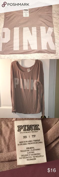 VS PINK long sleeve❄️ Light Lavender color  Lightweight material Super soft  Worn twice *price is firm on this item. PINK Victoria's Secret Tops Tees - Long Sleeve