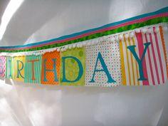 Adorable birthday bunting banner
