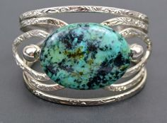 Stone Cuff DIY Bracelet: Try this creative way to incorporate birthstones into your homemade jewelry gifts and craft a sweet stone bracelet.