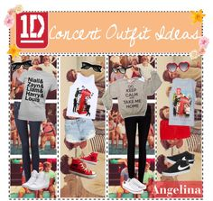 """""""1D Concert Outfit Ideas"""" by thetipteens ❤ liked on Polyvore"""