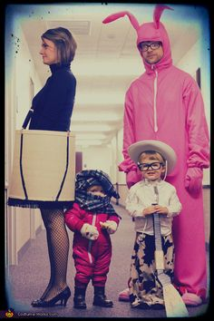 A Christmas Story Family - Halloween Costume Contest