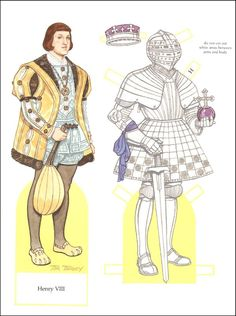 Young Henry VIII. Paper Doll