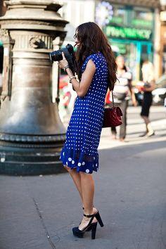 裾の切り返しがかわいい! 爽やかな青。#eruca