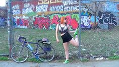 Redhead on Bicycle