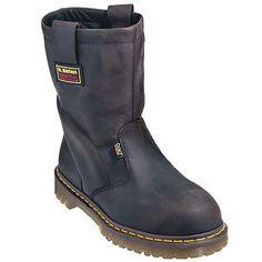 Doc Martens Men's Brown R14404201 Met Guard Steel Toe Wellington Work Boots