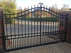 Cantilever wrought iron gate