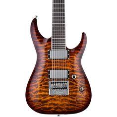 Esp Ltd Ks-7 Ken Susi 7 String Electric Guitar Dark Brown Sunburst - http://www.7stringguitar.org/for-sale/esp-ltd-ks-7-ken-susi-7-string-electric-guitar-dark-brown-sunburst-4/28995/