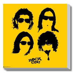 #GABAMBO. Rock On Minimal Movie Poster. #Bollywood  #Hairstyles #Poster #Canvasart  Available at www.gabambo.com